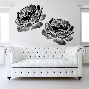 Samolepka na zeď Black Roses, 120x90 cm