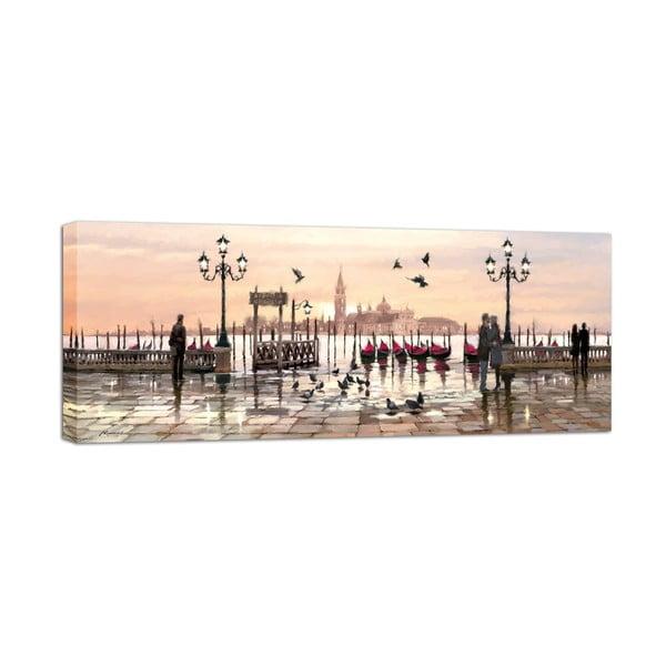 Canvas Watercolor Venice fali kép, 60 x 150 cm - Styler