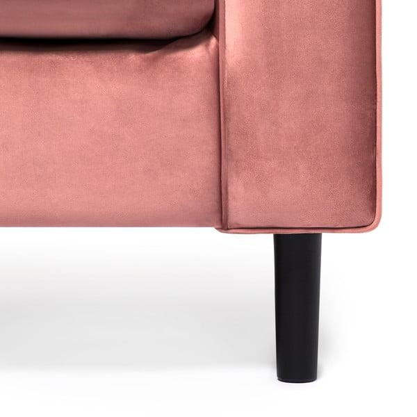 Pudrově růžová 3místná sedačka Vivonita Portobello