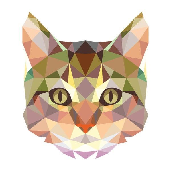 Autocolant Fanastick Origami Cat
