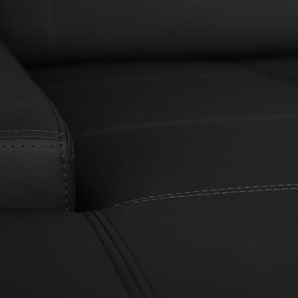 Černá pohovka Modernist Cardigan, levý roh