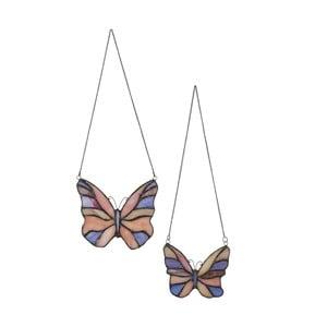Sada 2 závěsných Tiffany motýlků