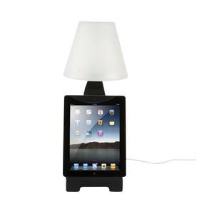 Stolní lampa se stojanem na tablet, černá