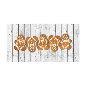 Kuchyňský běhoun Crido Consulting Gingerbread Family, délka 100 cm
