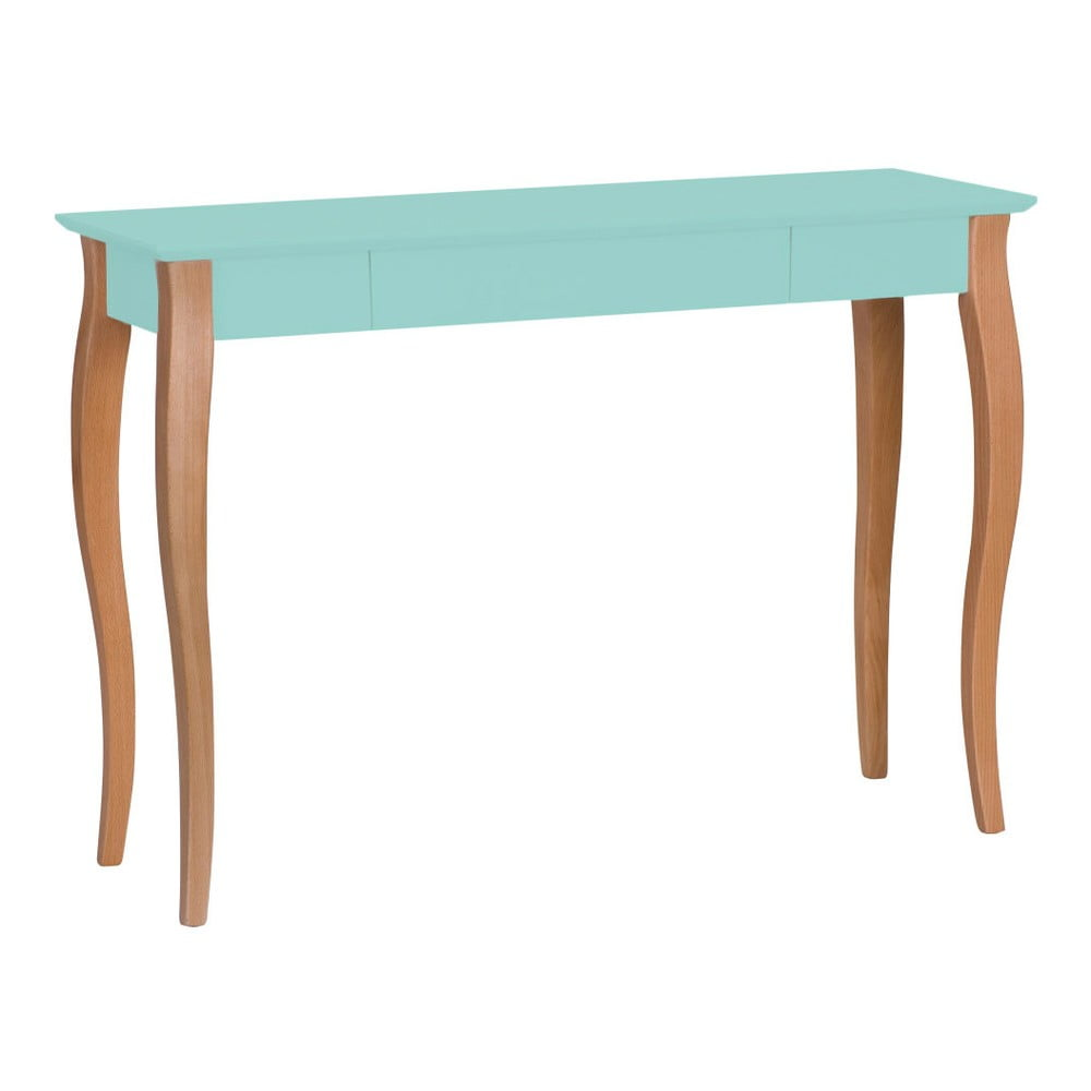 Světle tyrkysový psací stůl Ragaba Lillo, šířka 105 cm