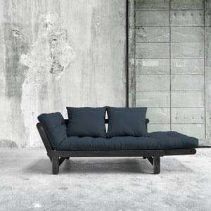 Canapea extensibilă Beat Black/Deep Blue