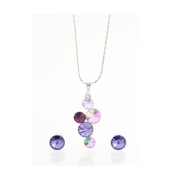 Set náhrdelníku a náušnic se Swarovski Elements Laura Bruni Fjollum