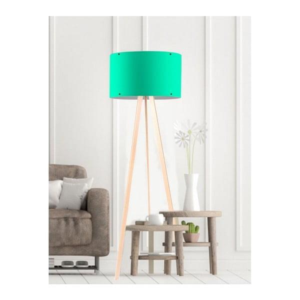 Zelená stojací lampa Simple