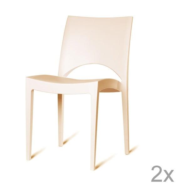 Sada 2 plastových židlí Roma