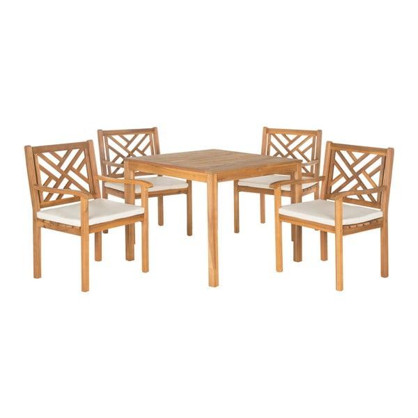 Mendoza kerti asztal és szék akácfából - Safavieh