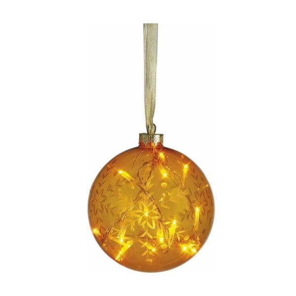 Svítící koule Vesta Yellow, 12 cm