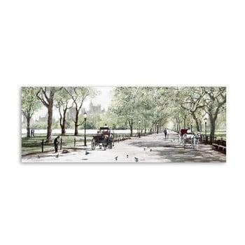 Tablou Styler Canvas Watercolor Central Park II, 60 x 150 cm de la Styler