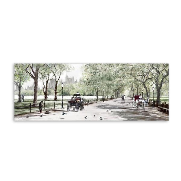 Canvas Watercolor Central Park II fali kép, 60 x 150 cm - Styler