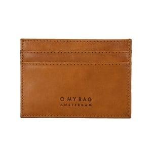 Koňakově hnědé kožené pouzdro na karty a vizitky O My Bag Mark´s