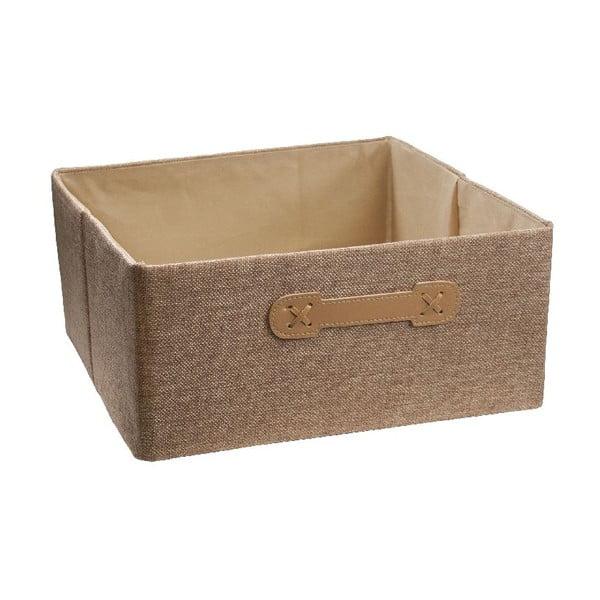 Úložný box Ordinett Halfcube Brown Sugar, 32x32cm