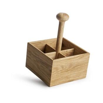 Suport din lemn de stejar pentru condimente Sagaform Nature imagine