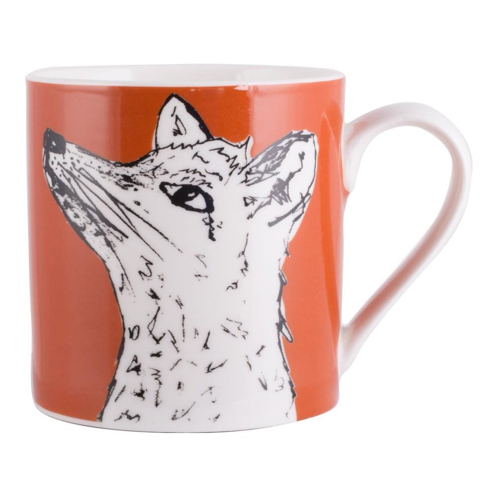 Oranžový porcelánový hrnek Creative Tops Wild Fox, 300ml