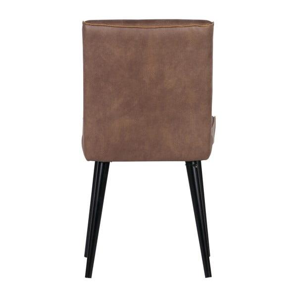 Sada 2 světle hnědých kožených židlí De Eekhoorn Revolution
