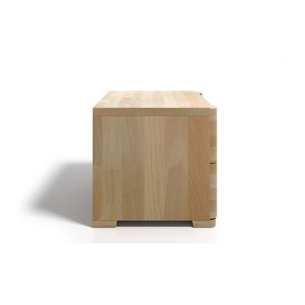 Noptieră din lemn de fag cu 2 sertare SKANDICA Sparta