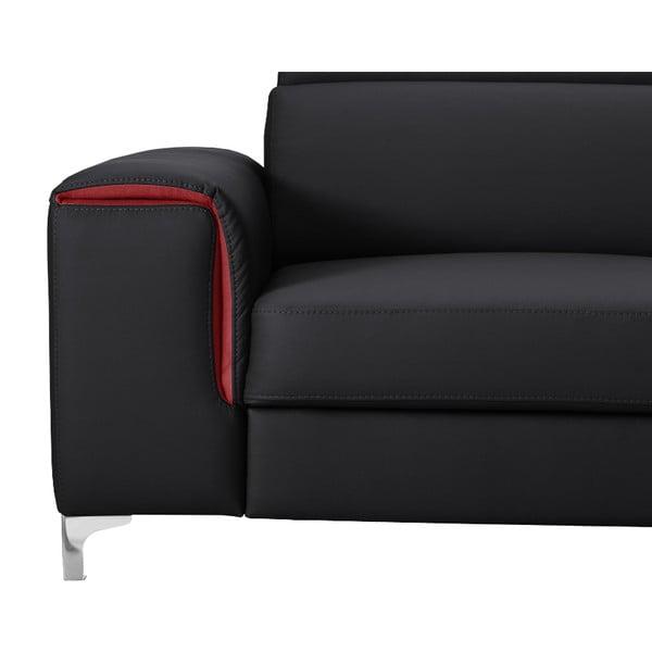 Černo-růžová pohovka Modernist Serafino, levý roh