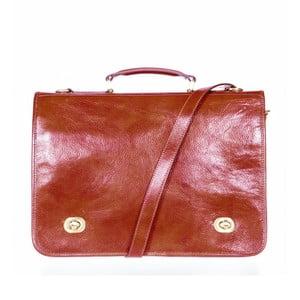 Hnědá kožená taška přes rameno Italia in Progress Trovatore