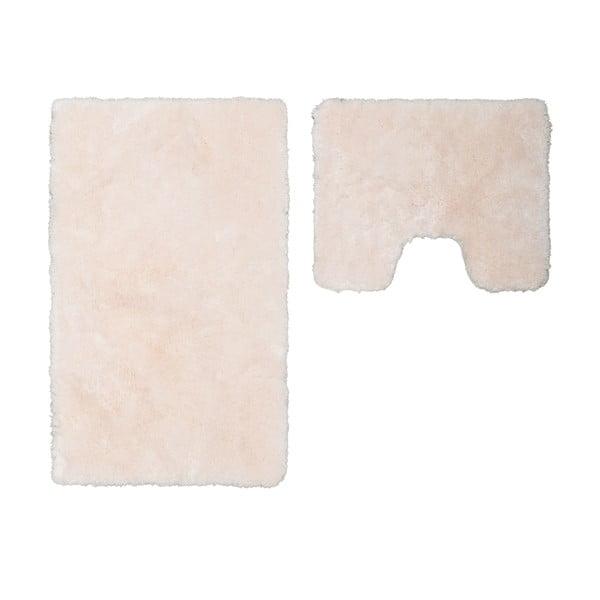 Sada 2 koupelnových předložek s výkrojem Spotlight Ivory