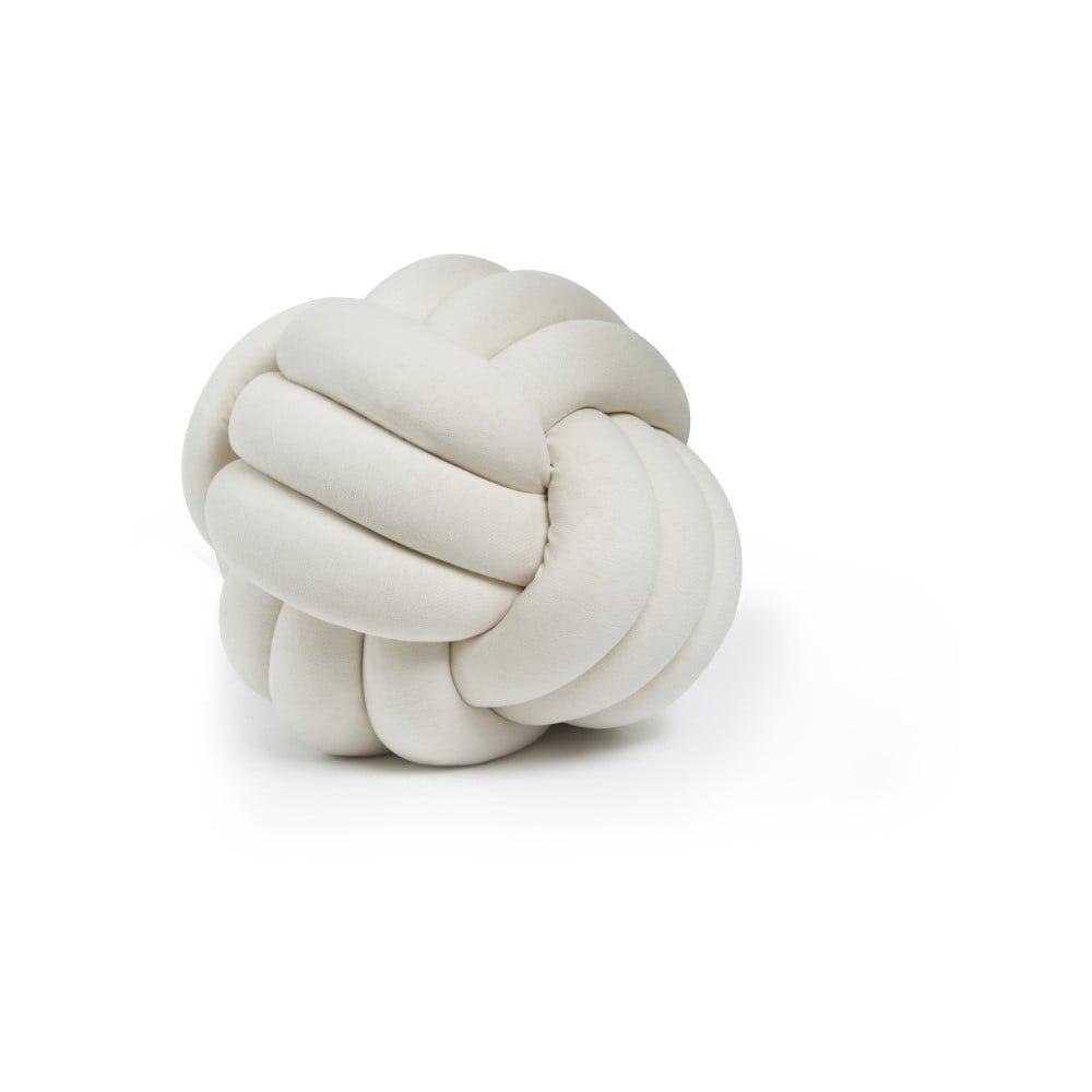 Světle béžový polštář Knot Decorative Cushion, ⌀ 30 cm