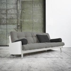 Canapea extensibilă Karup Indie White/Granite Grey/Dark Grey