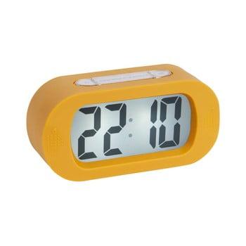 Ceas cu alarmă Karlsson Gummy, galben imagine