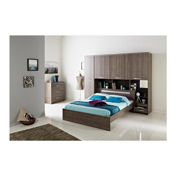 Dvoulůžková postel v dekoru ořechového dřeva Parisot Arlette, 140x190cm