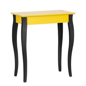 Žlutý konzolový stolek s černými nohami Ragaba Lilo, šířka 65cm