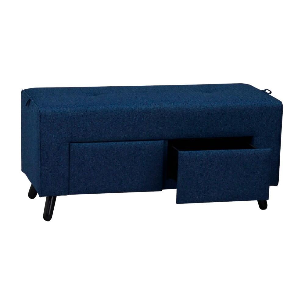 Modrá lavice se dvěma šuplíky Folke Scylla