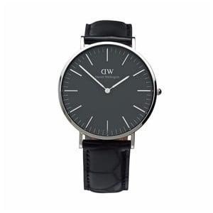 Černé unisex hodinky DanielWellingtonReading Silver, ⌀36mm