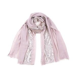 Růžový šátek s glitry Art of Polo