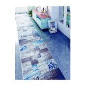 Modrý koberec Muriel Sento, 80 x 160 cm