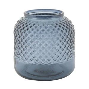 Modrá váza z recyklovaného skla Mauro Ferretti Bolter, ⌀ 19 cm