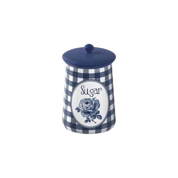 Pojemnik ceramiczny na cukier Creative Tops Vintage Indigo, Ø 9 cm