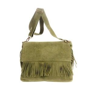Zelená kožená kabelka Tina Panicucci Pressa