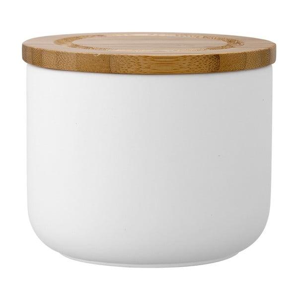Biały matowy pojemnik kamionkowy Ladelle Stak, wys. 9 cm