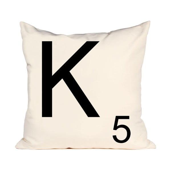 Písmenkový polštář Letra K, 50x50 cm