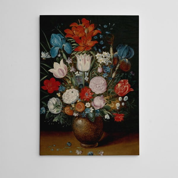 Obraz na plátně Zátiší s květinami, 50x70 cm