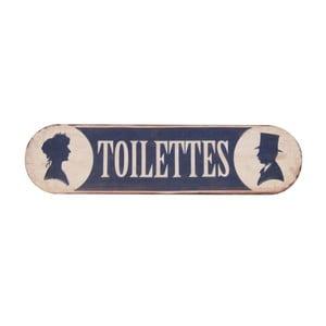 Plăcuță pentru ușă Antic Line Toilettes Fer