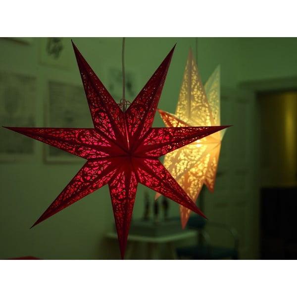 Dekorativní hvězda Baby Rosso, 45 cm