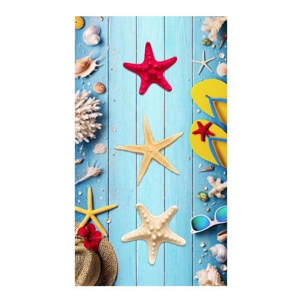 Plážová osuška s potiskem Good Morning Beachy, 100 x 180 cm