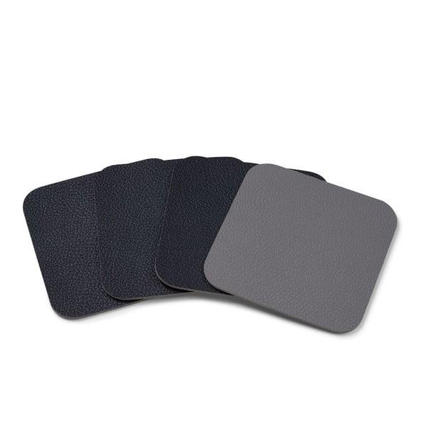 Sada 4 černošedých podložek pod hrnek Bitz Basics, 10 cm