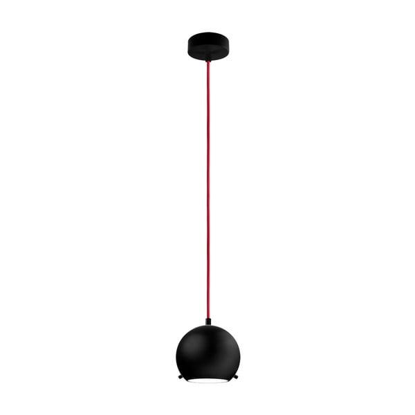 Světlo MYOO black matte/red/black