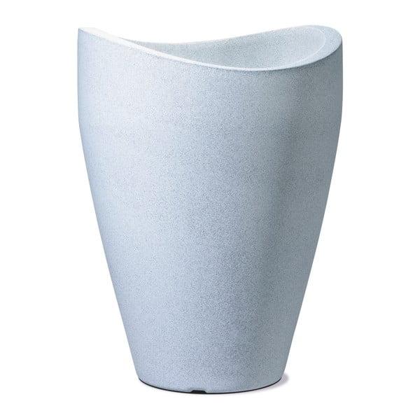 Venkovní květináč Granit 54x40 cm, bílý