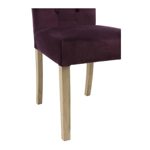 Vínová sametová židle Aubergine