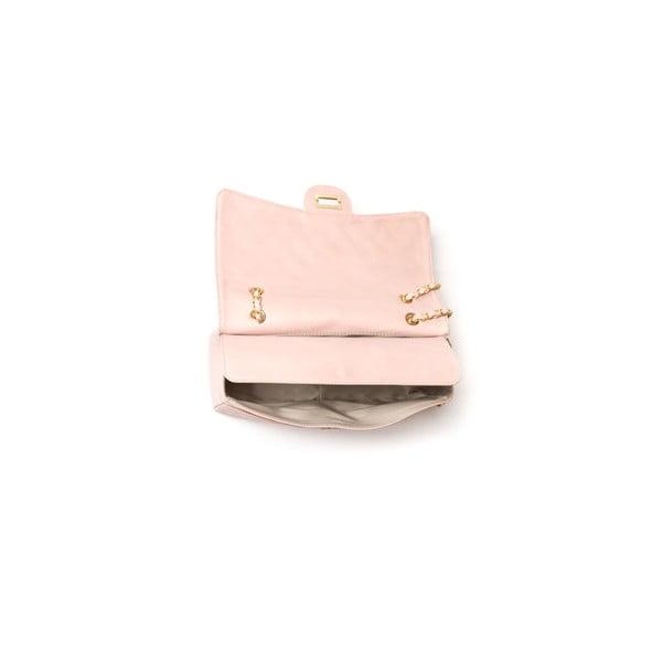 Kožená kabelka Casla, růžová