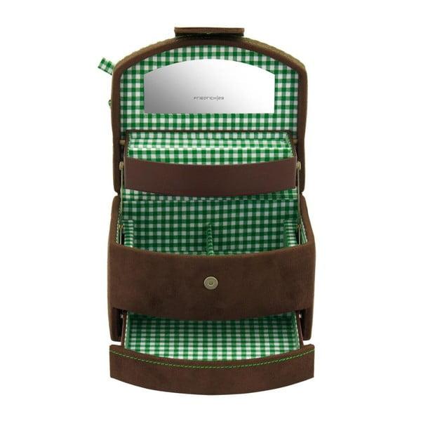 Šperkovnice Bagvaria Brown/Green, 16x13x11,5 cm